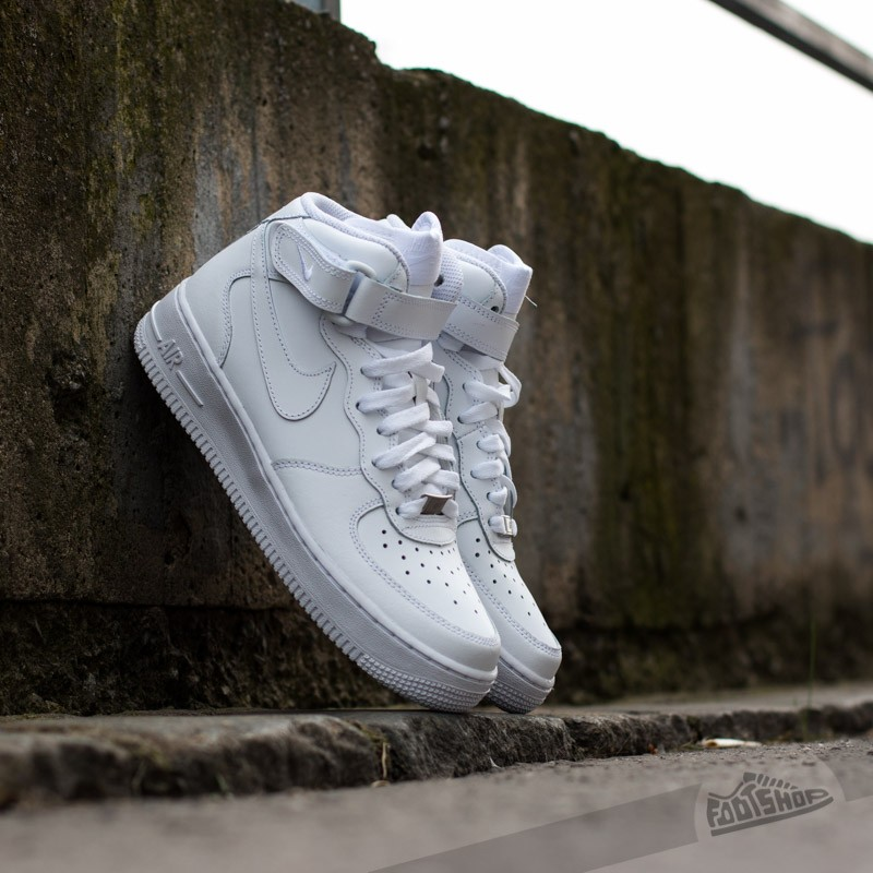Nike Air Force 1 Mid (GS) White/ White