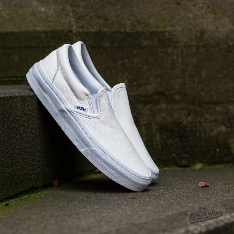 Vans Classic Slip- On (Premium Leather) True White/Mono Footshop – FR