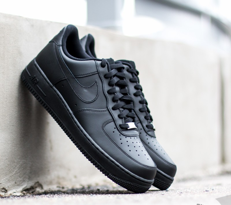 Nike Air Force 1 ´07 Black/Black Footshop – FR