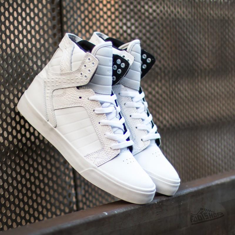 Supra Skytop White/Croc-White Footshop – FR