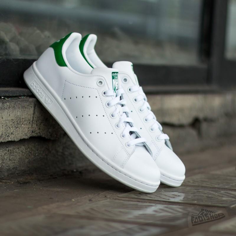 adidas Stan Smith J Ftw White/Ftw White/Green Footshop – FR