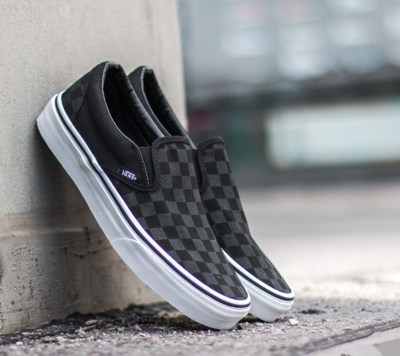 Vans Classic Slip-On (Checkerboard) Black Footshop – FR