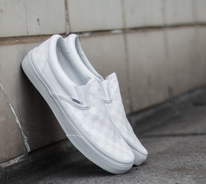 Vans Classic Slip-on (Checkerboard) White Footshop – FR