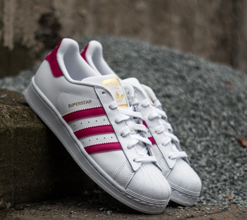 adidas Superstar Foundation J Ftw White/ Bo Pink/ Ftw White Footshop – FR