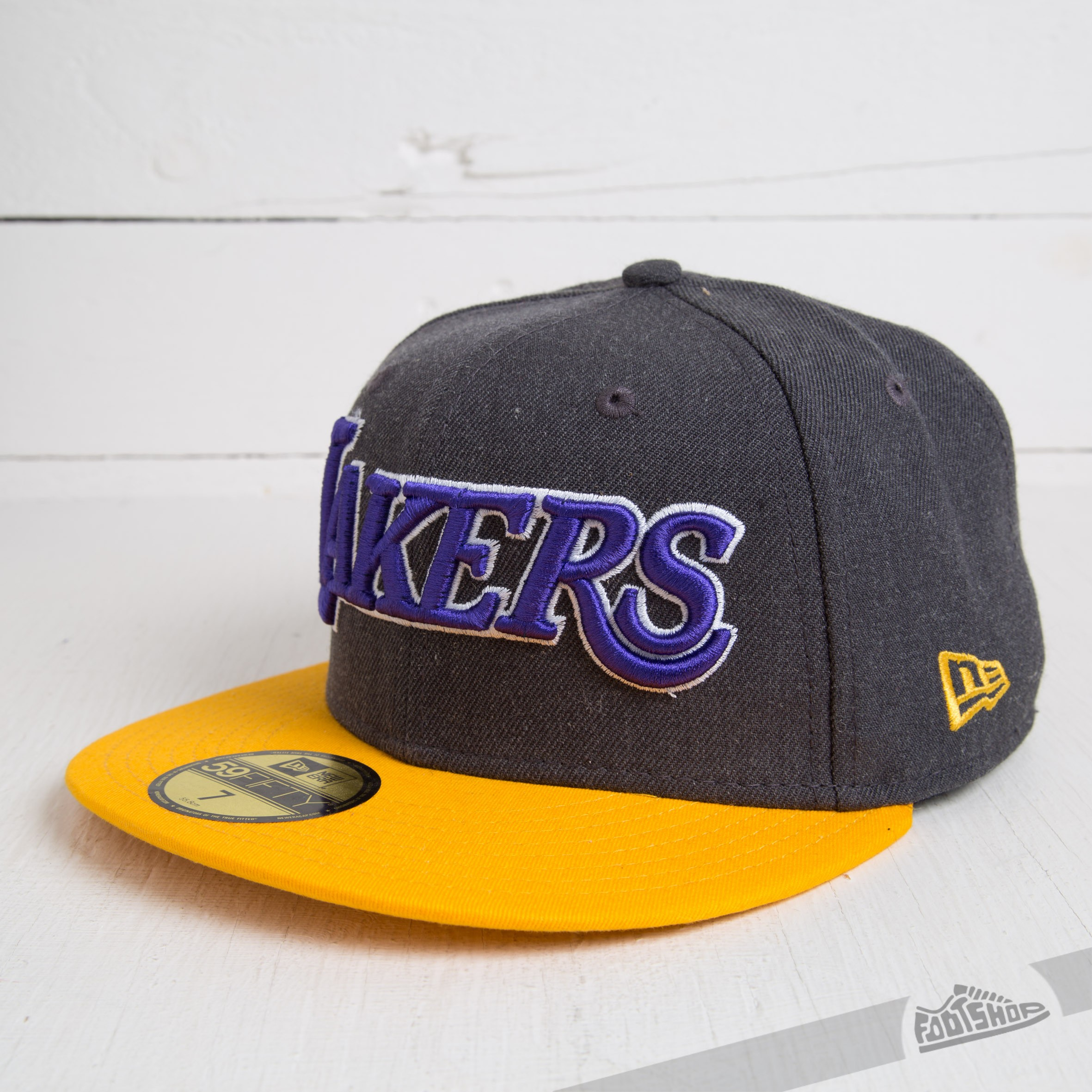 New Era 59FIFTY Heather Ball LA Lakers Grey/Yellow