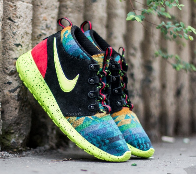 Nike Roshe One Mid Winter Pendleton (GS) Multicolor/ University Red/ Volt/ Photo Blue