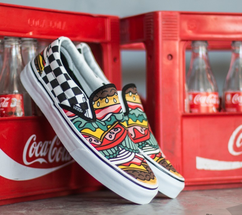 Vans Classic Slip-On Late Night Burger/ Check