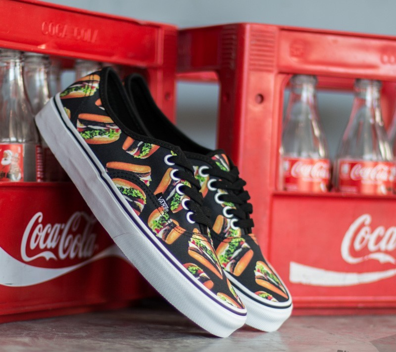 Vans Authentic Late Night Black/ Hamburgers Footshop – FR
