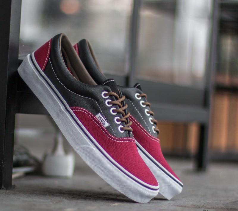 Vans Era (Leather/ Plaid) Rhubarb/ Black Footshop – FR