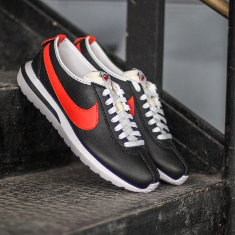 Nike Roshe Cortez NM Leather Black/Tm Orange-White-Safety Orange Footshop – FR