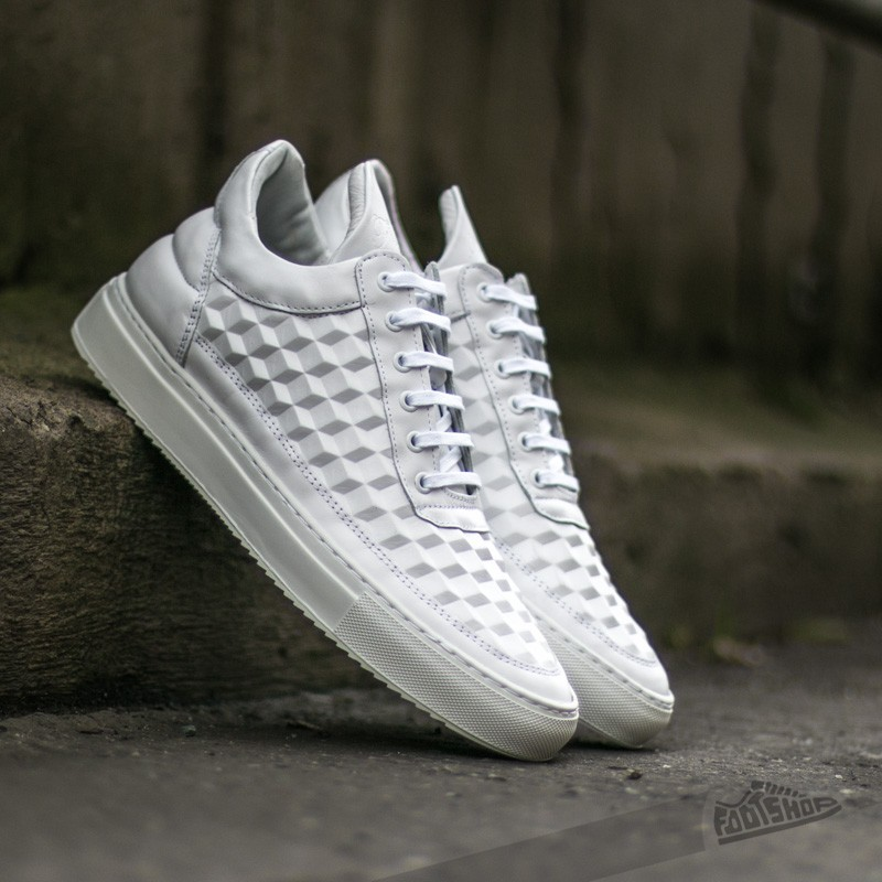 Filling Pieces Low Top 3D Cubic White