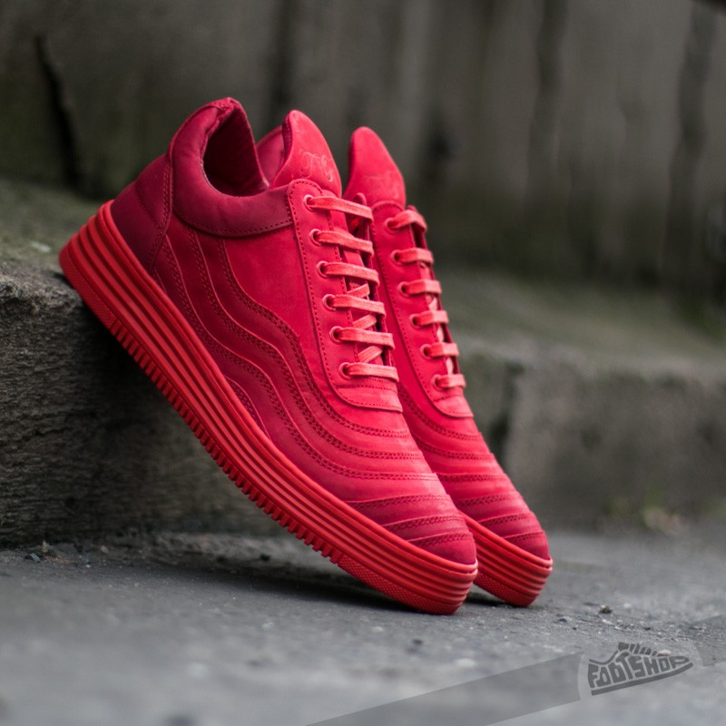 Filling Pieces Low Top Wavy Red