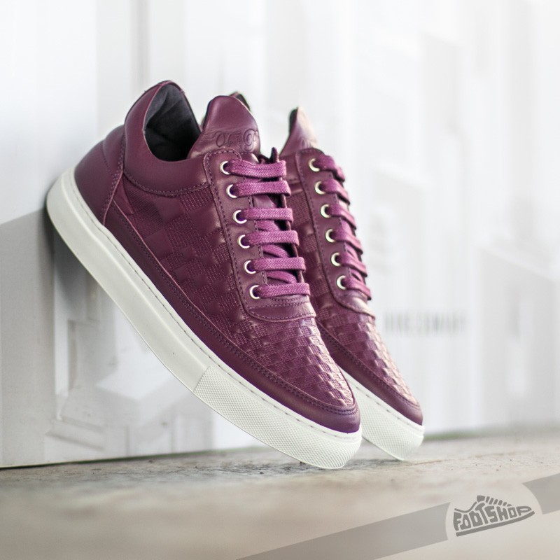 Filling Pieces Low Top Stripe Quilted Purple Footshop – FR