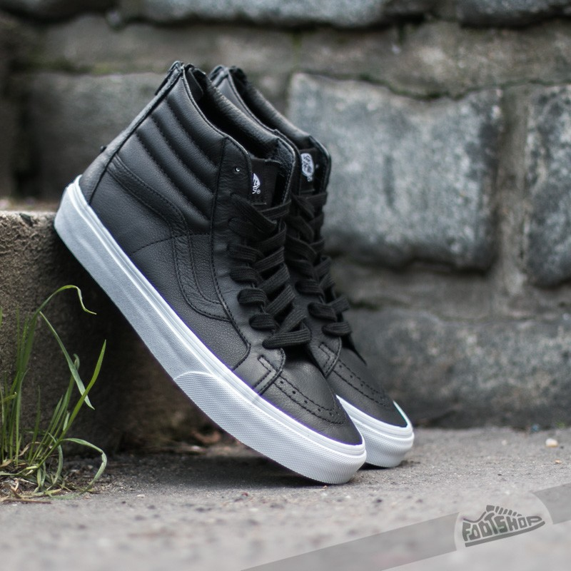 Vans Sk8-Hi Reissue Zip Premium Leather Black/ True White Footshop – FR