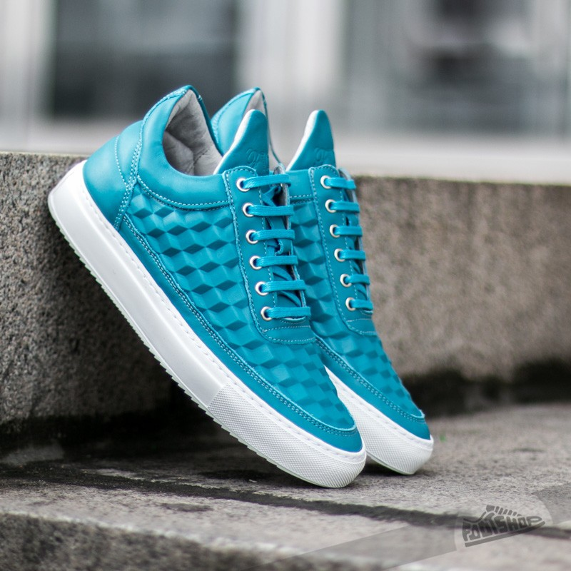 Filling Pieces Low Top 3D Cubic Turquoise Footshop – FR