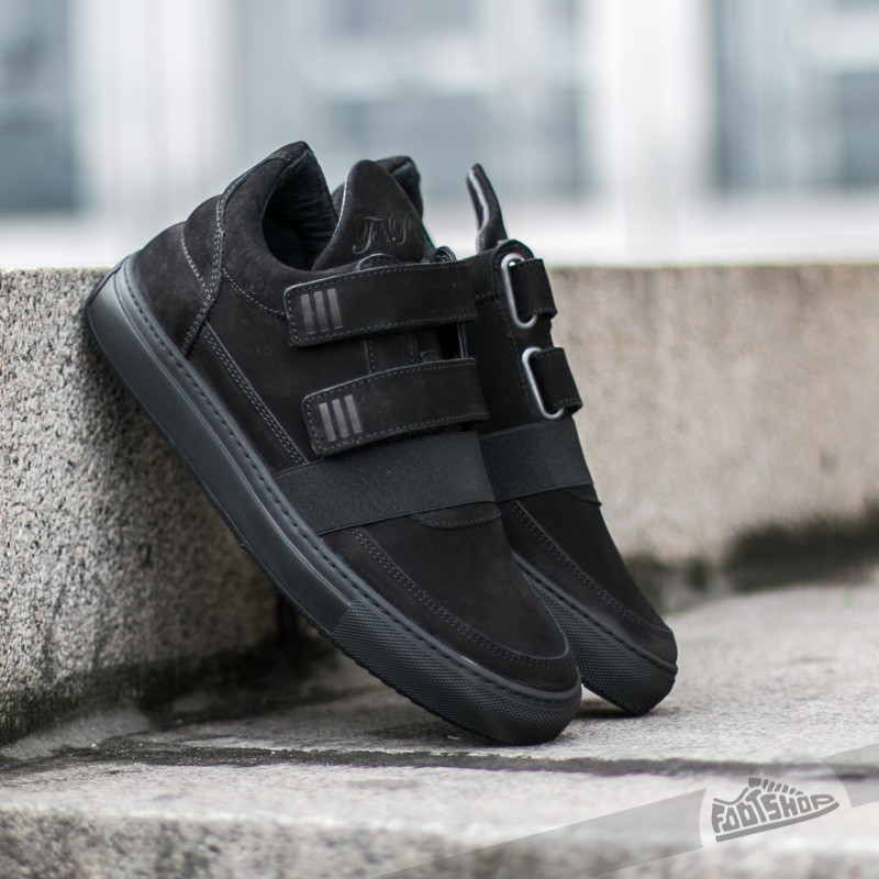 Filling Pieces Low Top Double Strap All Black Footshop – FR