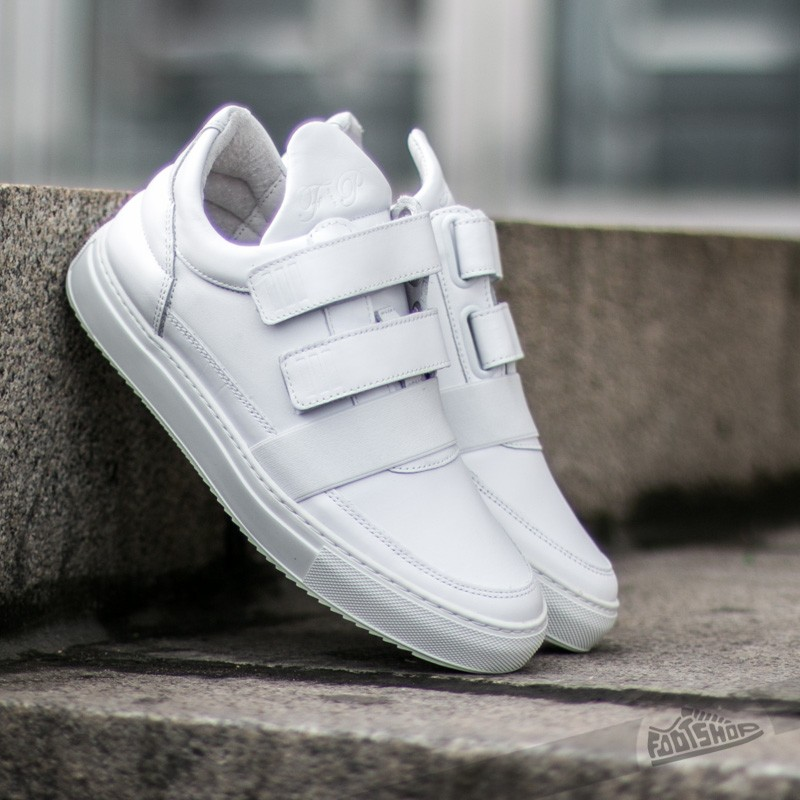 Filling Pieces Low Top Double Strap All White Footshop – FR
