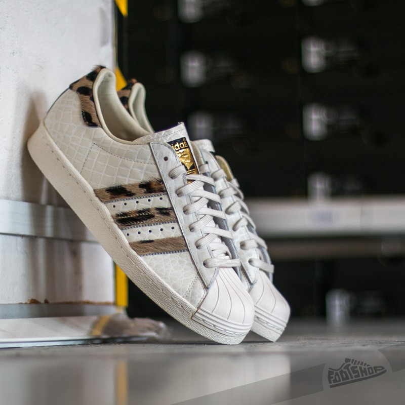 adidas Superstar 80s Animal Core White/ Core White/ Gold Metal
