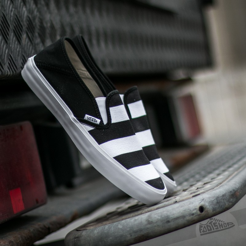 Vans Slip-on SF (Stripes) Black/ White