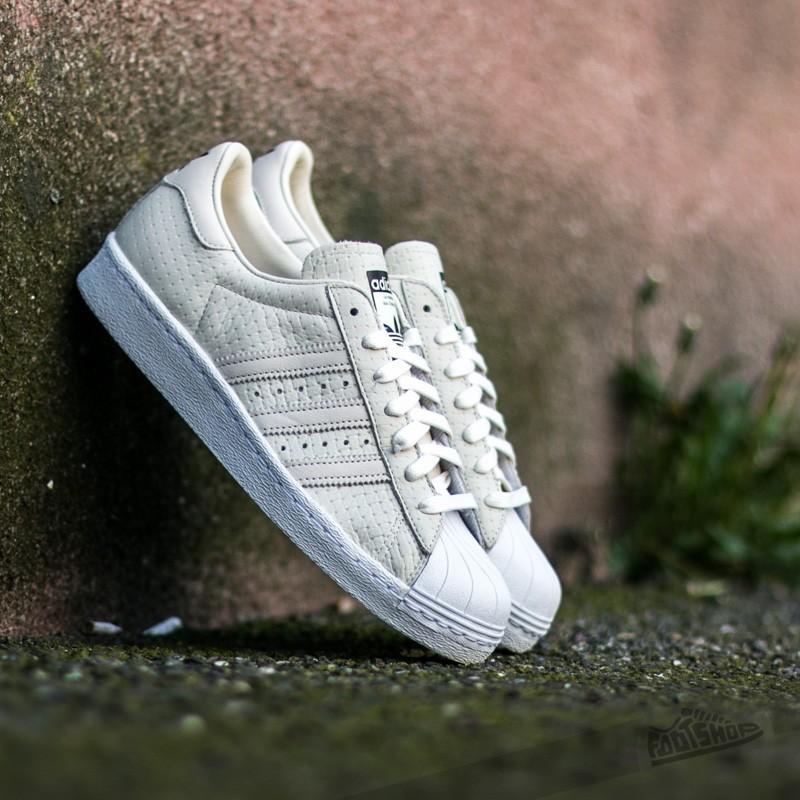 adidas Superstar 80s Woven Cream White/ Cream White/ Ftw White