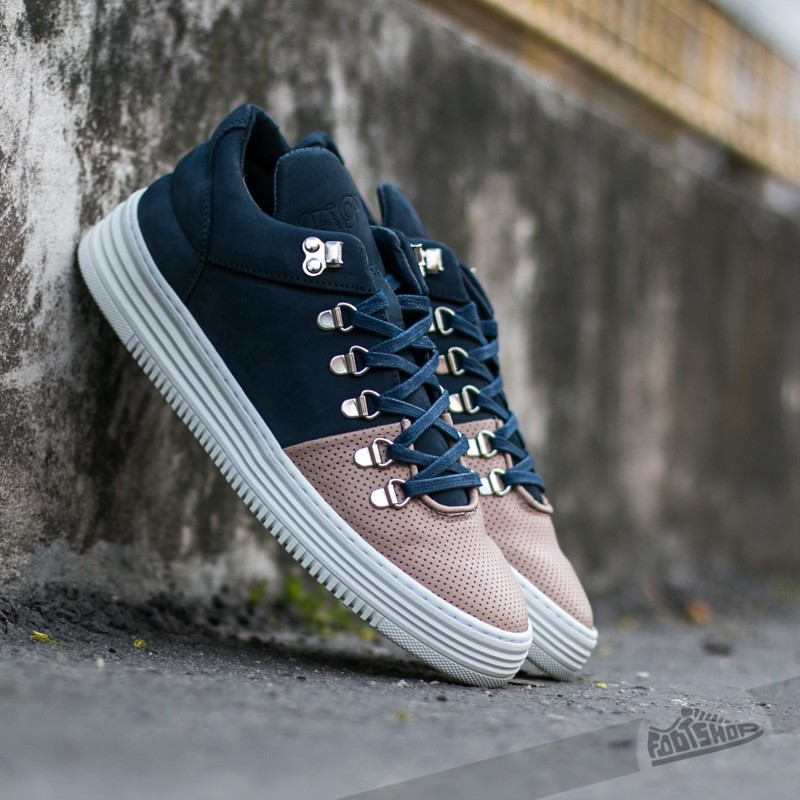 Filling Pieces Moutain Cut Perforated Toe Navy