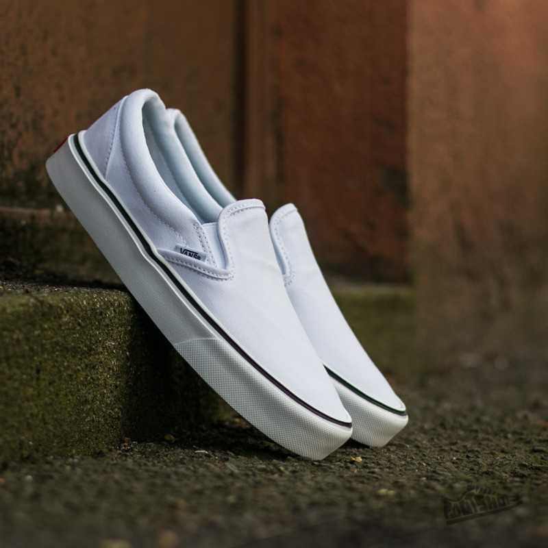 Vans Slip-On Lite + (Canvas) True White