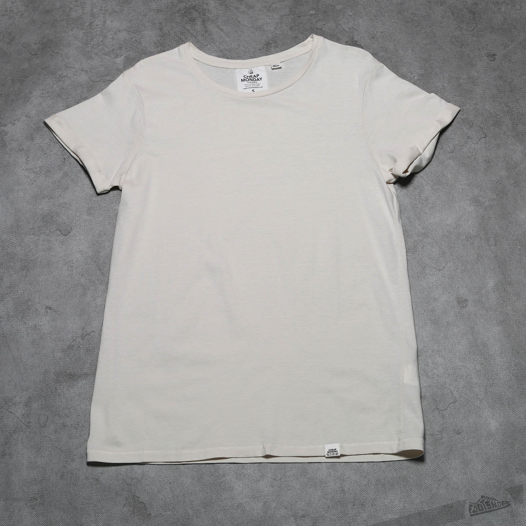 Cheap Monday Cap Roll Tee Sand Melange Footshop – FR