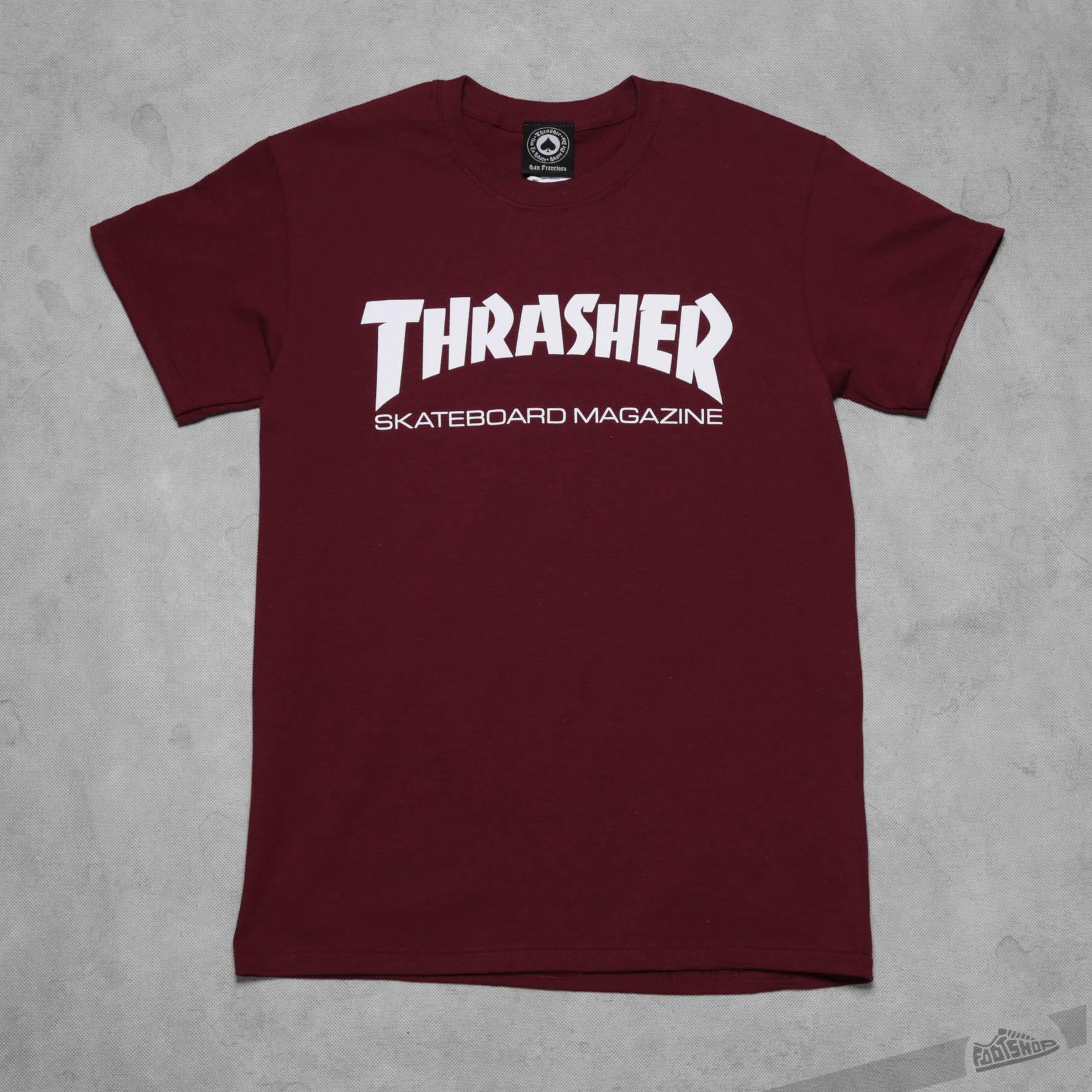 Thrasher Skate Mag T-Shirt Maroon Footshop – FR