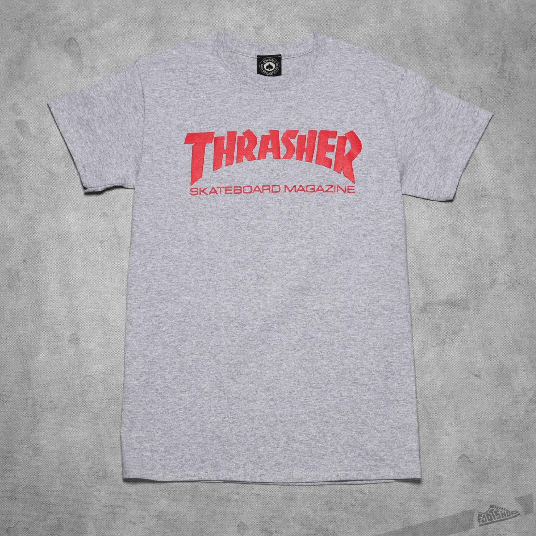 Thrasher Skate Mag T-Shirt Gray/ Red Footshop – FR