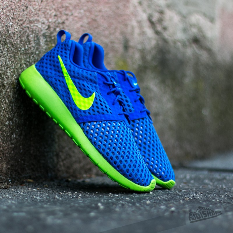 Nike Roshe One Flight Weight (GS) Racer Blue/ Electric Green Footshop – FR