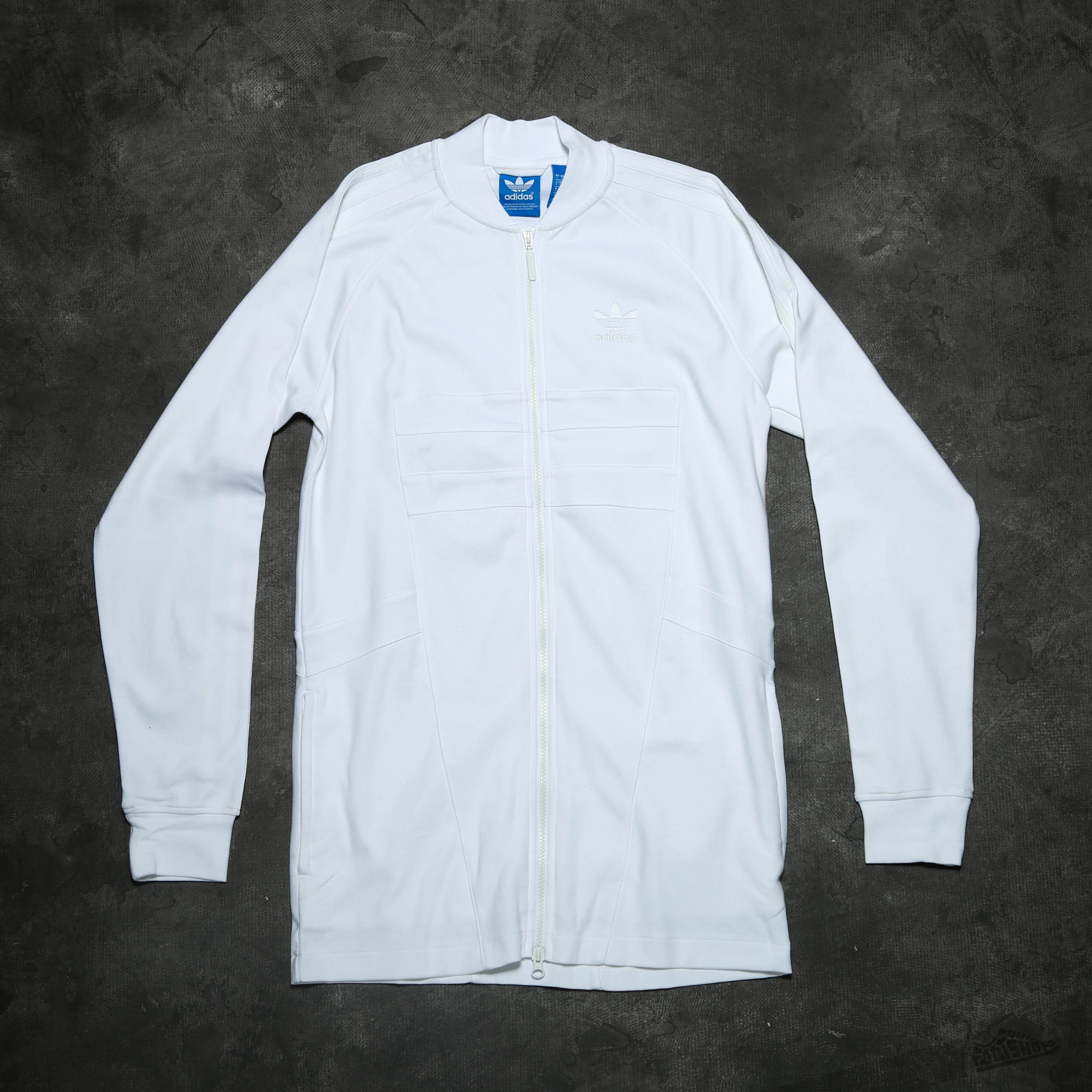 adidas Long Superstar Track Top White