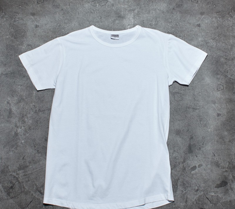 Urban Classics Peached Shaped Long Tee Off White