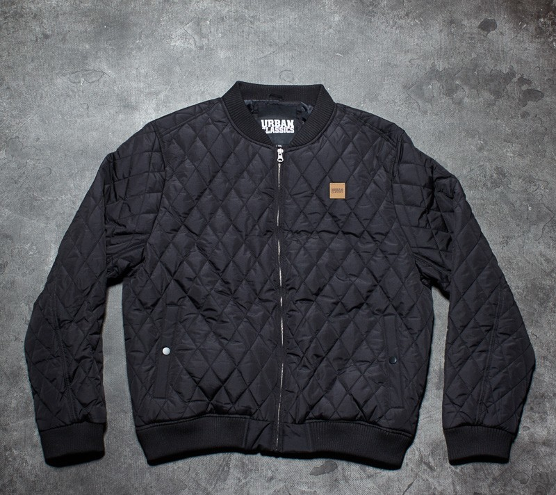 Urban Classics Diamond Quilt Nylon Jacket Black Footshop – FR