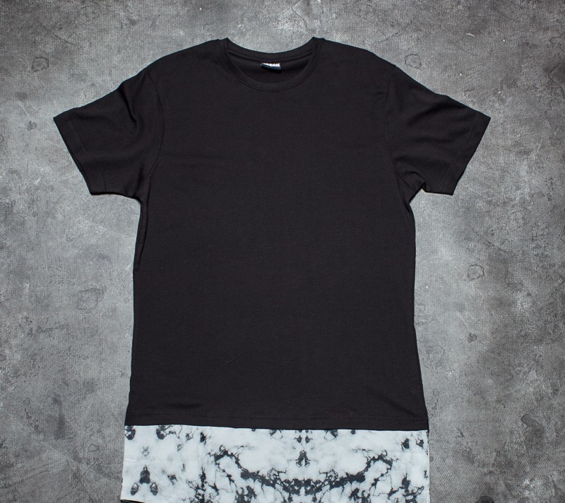 Urban Classic Long Shaped Marble Tee Black