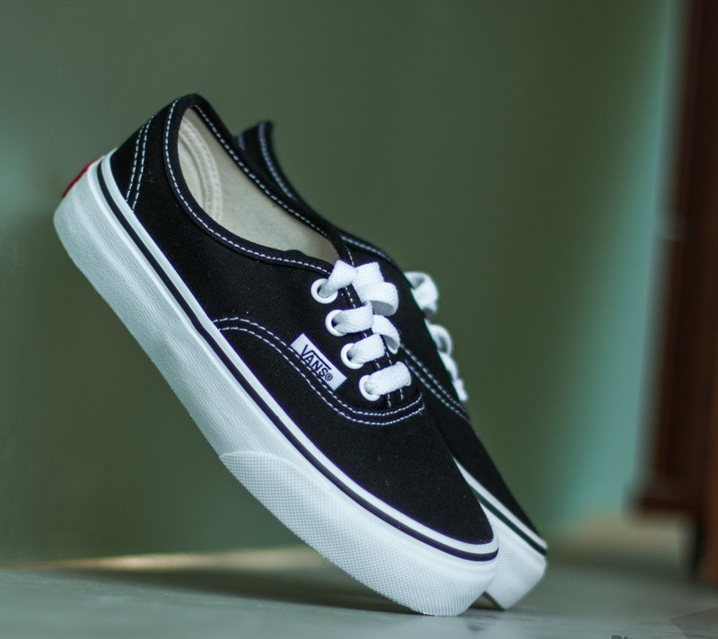 Vans K Authentic Black/ True White Footshop – FR