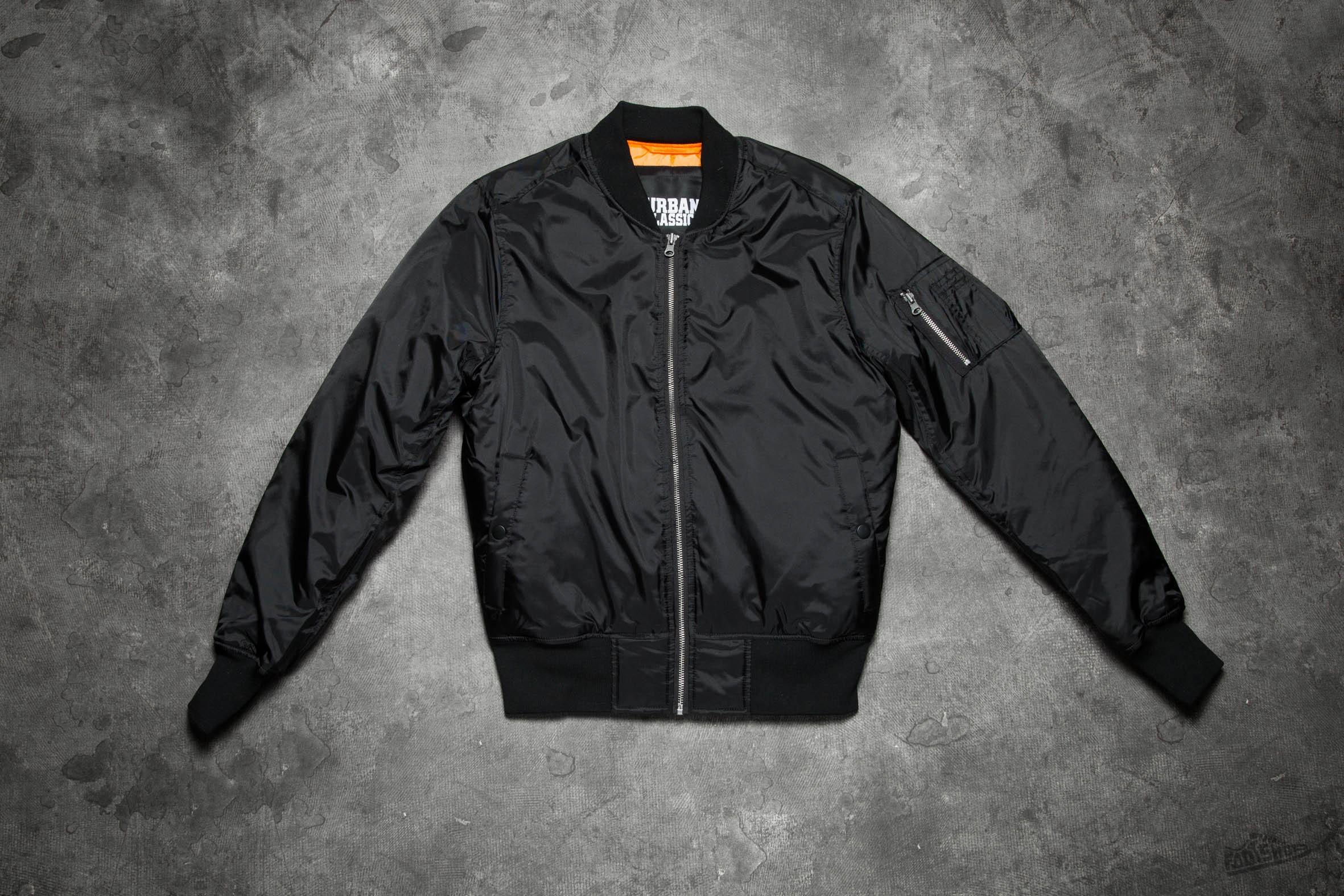 Urban Classics Basic Bomber Jacket Black Footshop – FR
