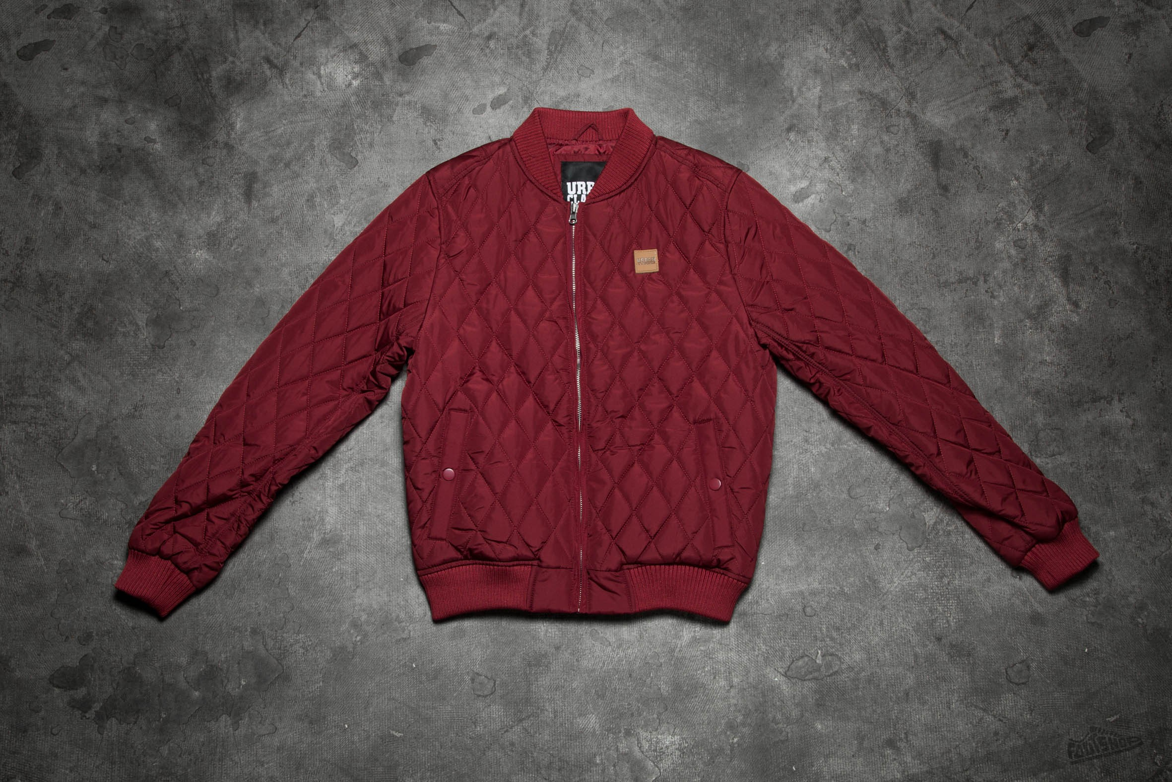 Urban Classics Diamond Quilt Nylon Jacket Burgundy Footshop – FR