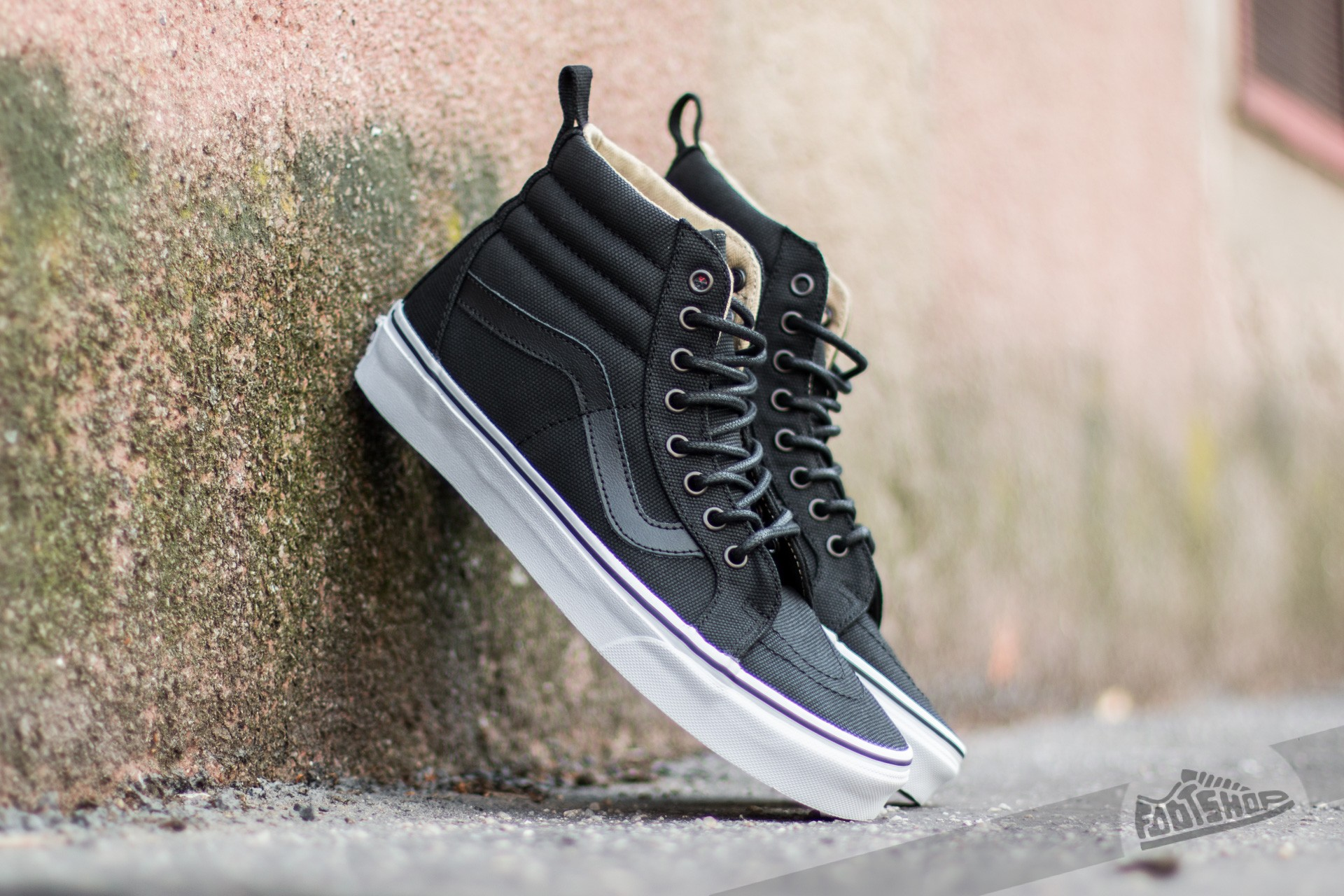 Vans Sk8-Hi Reissue PT (Military Twill) Black/ True White Footshop – FR