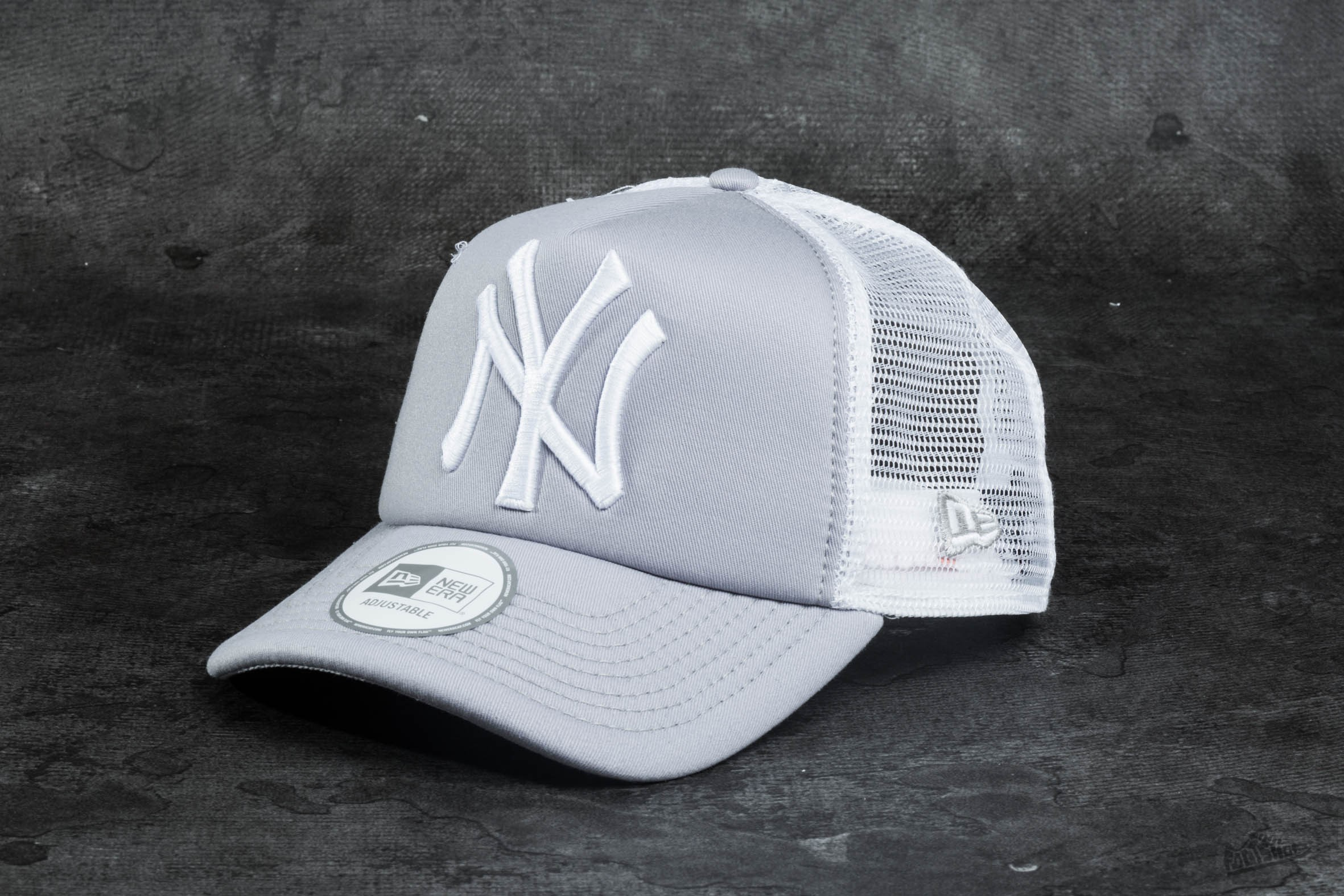 New Era Clean Trucker New York Yankees Grey/ White