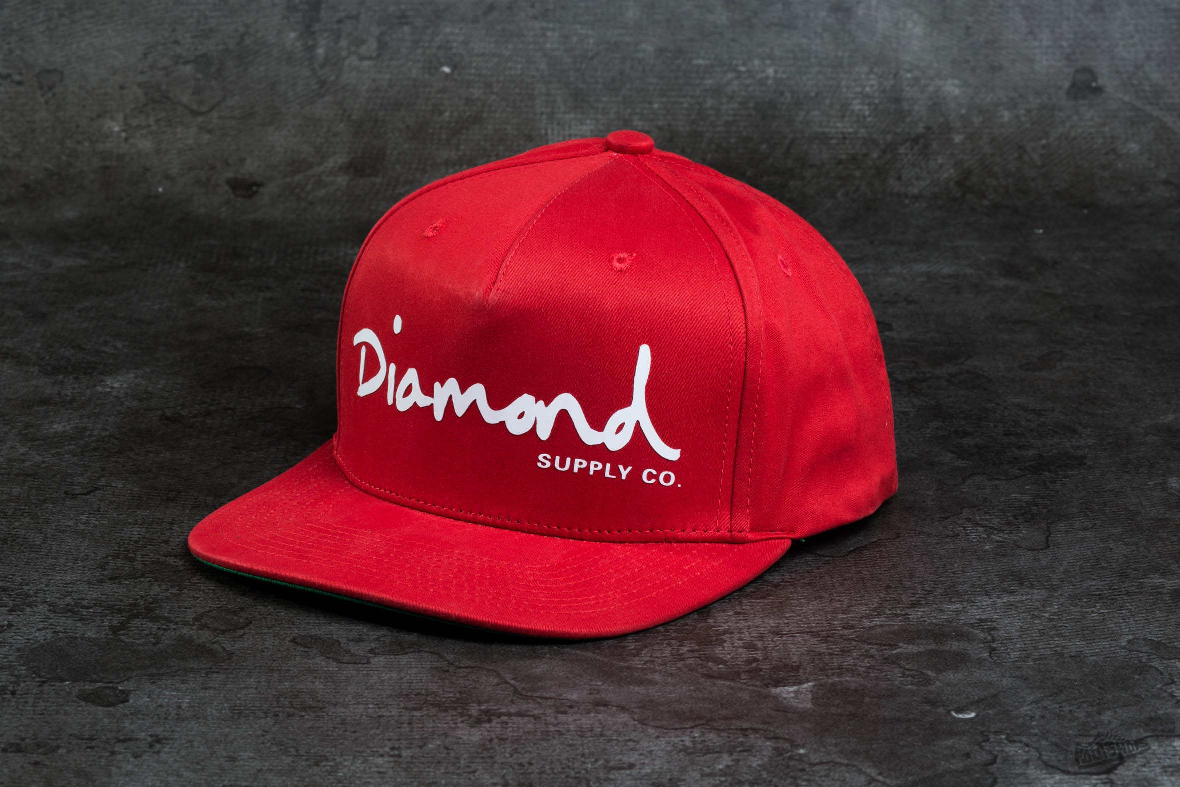 Diamond Supply Co. OG Script Snapback Red Footshop – FR