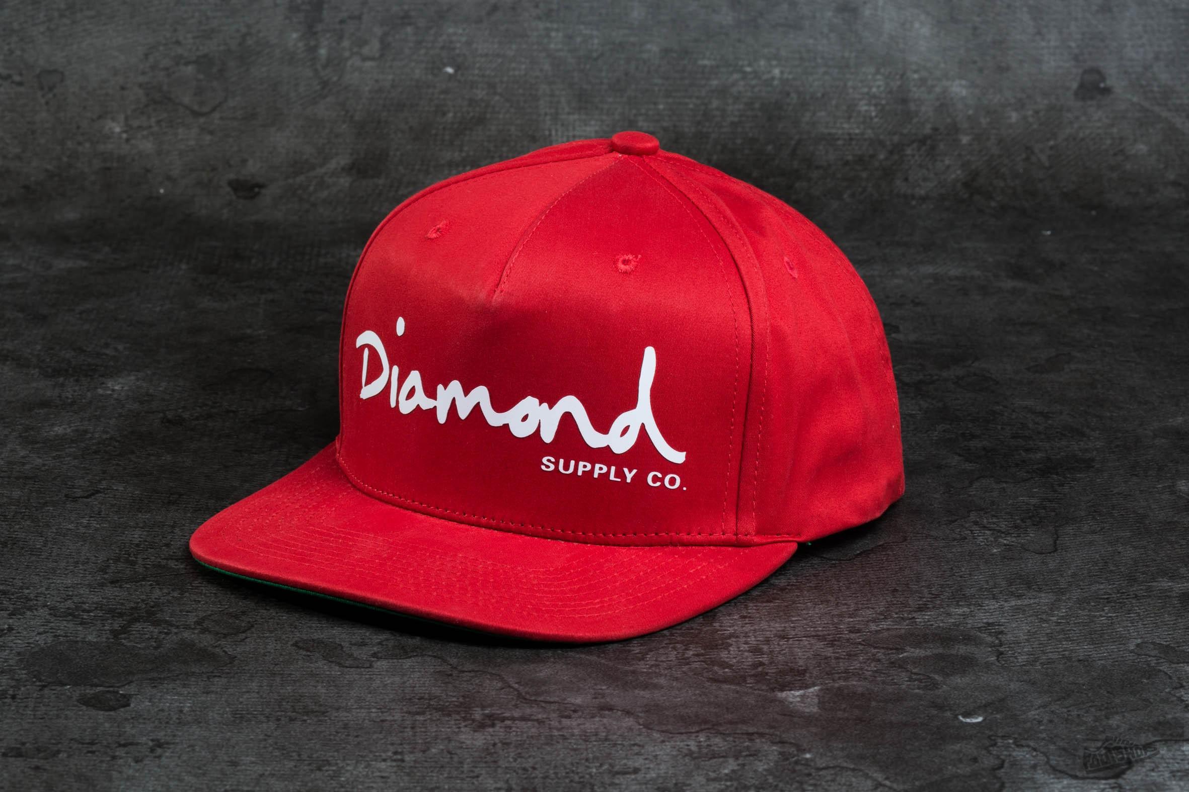 Diamond Supply Co. OG Script Snapback Red