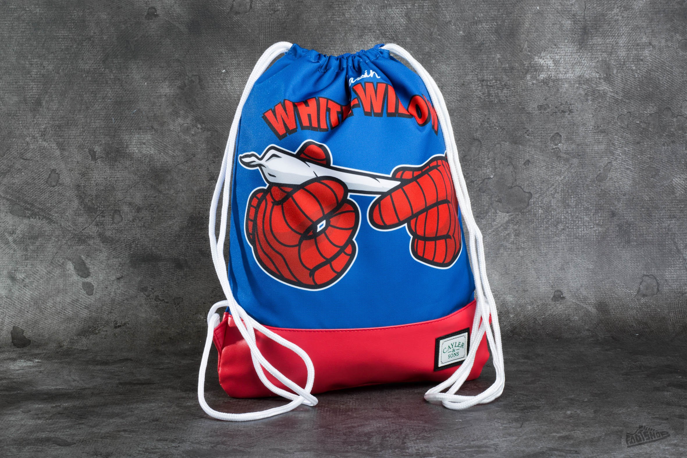 Cayler & Sons GL White Widow Gym Bag Royal Blue/Red/White