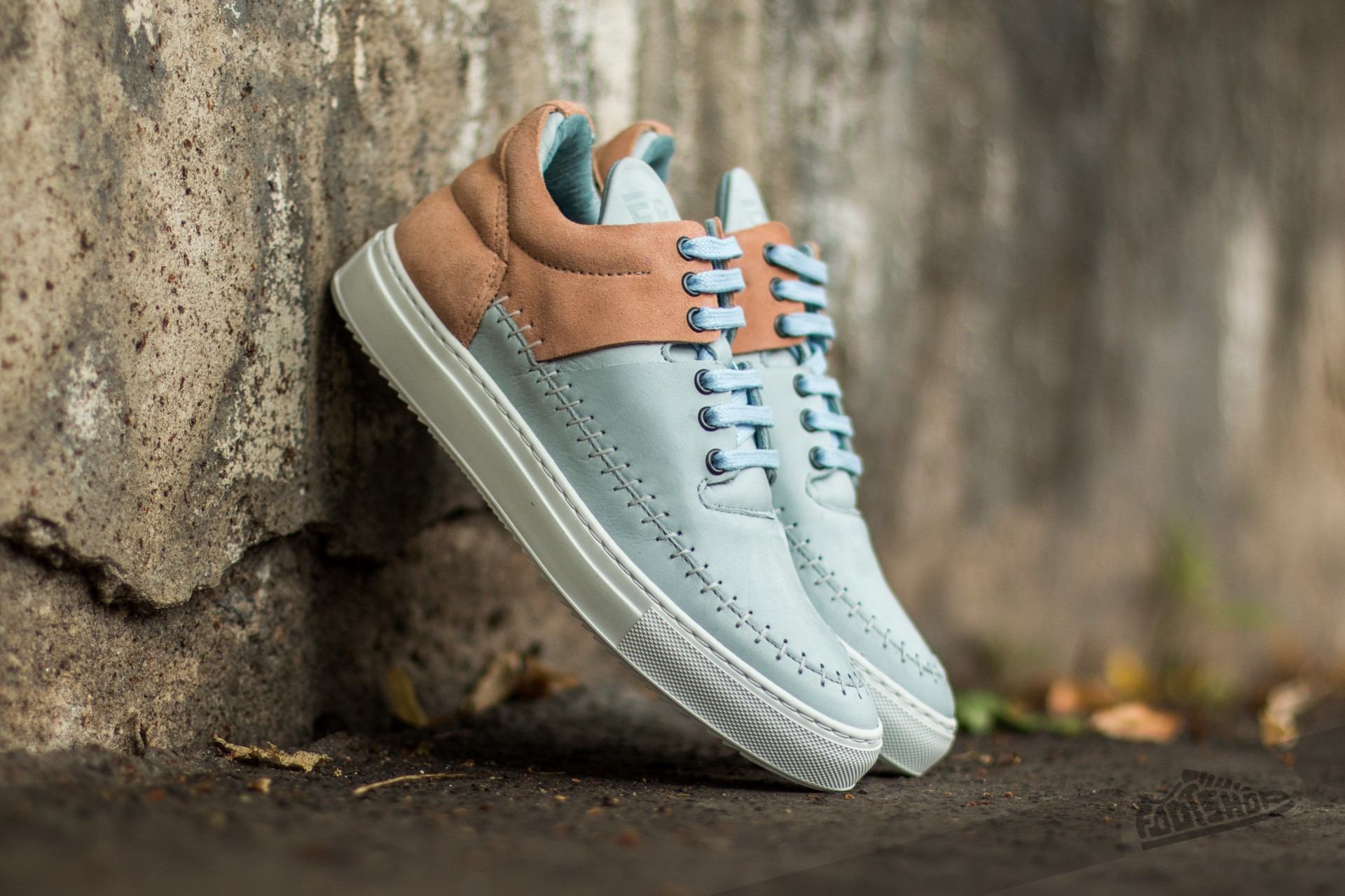 Filling Pieces Low Top Doble Nude/ Baby Blue