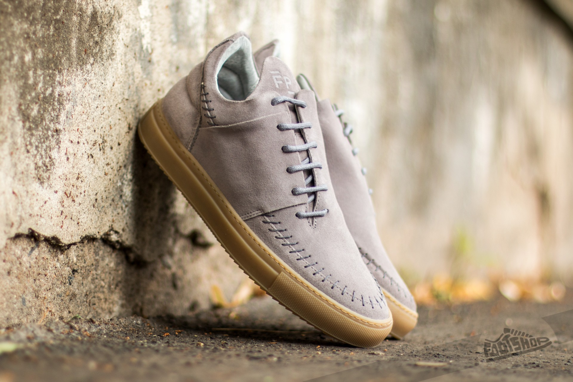 Filling Pieces Low Apache Suede Grey