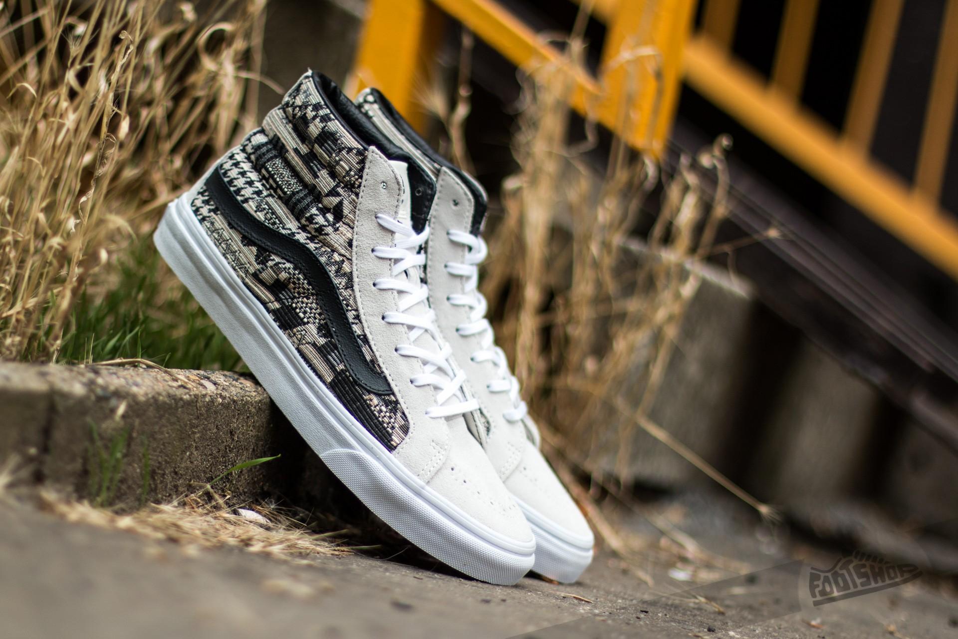 Vans Sk8-Hi Slim (Italian Weave) White/ Black