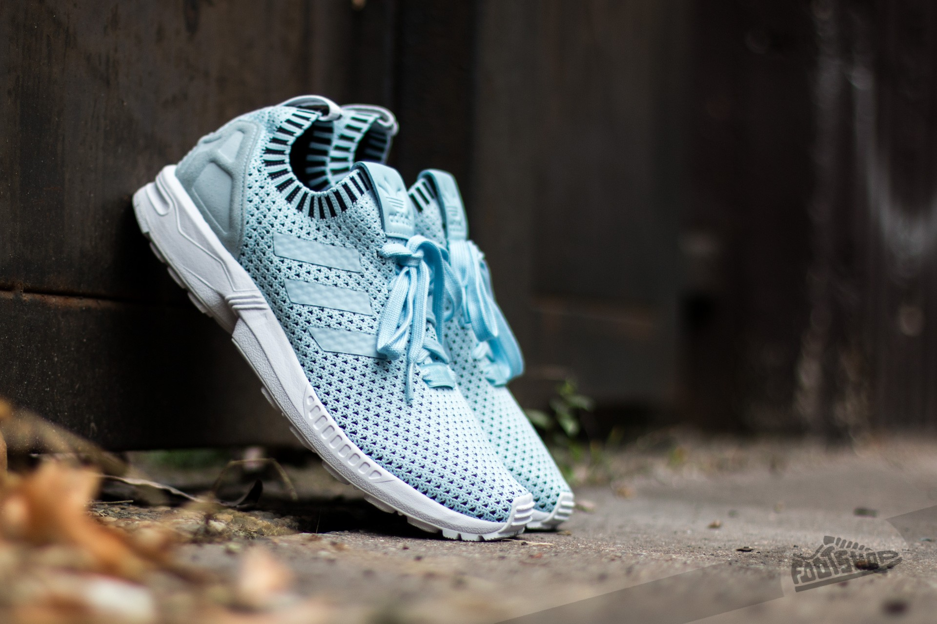 adidas ZX Flux Primeknit Ice Blue/ Ice Blue/ Core Black Footshop – FR