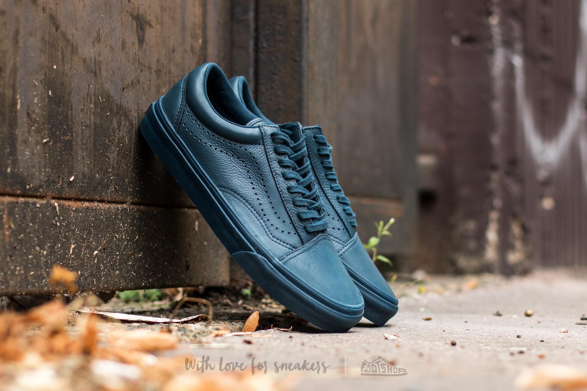 Vans Old Skool Reissue (Leather) Midnight Navy