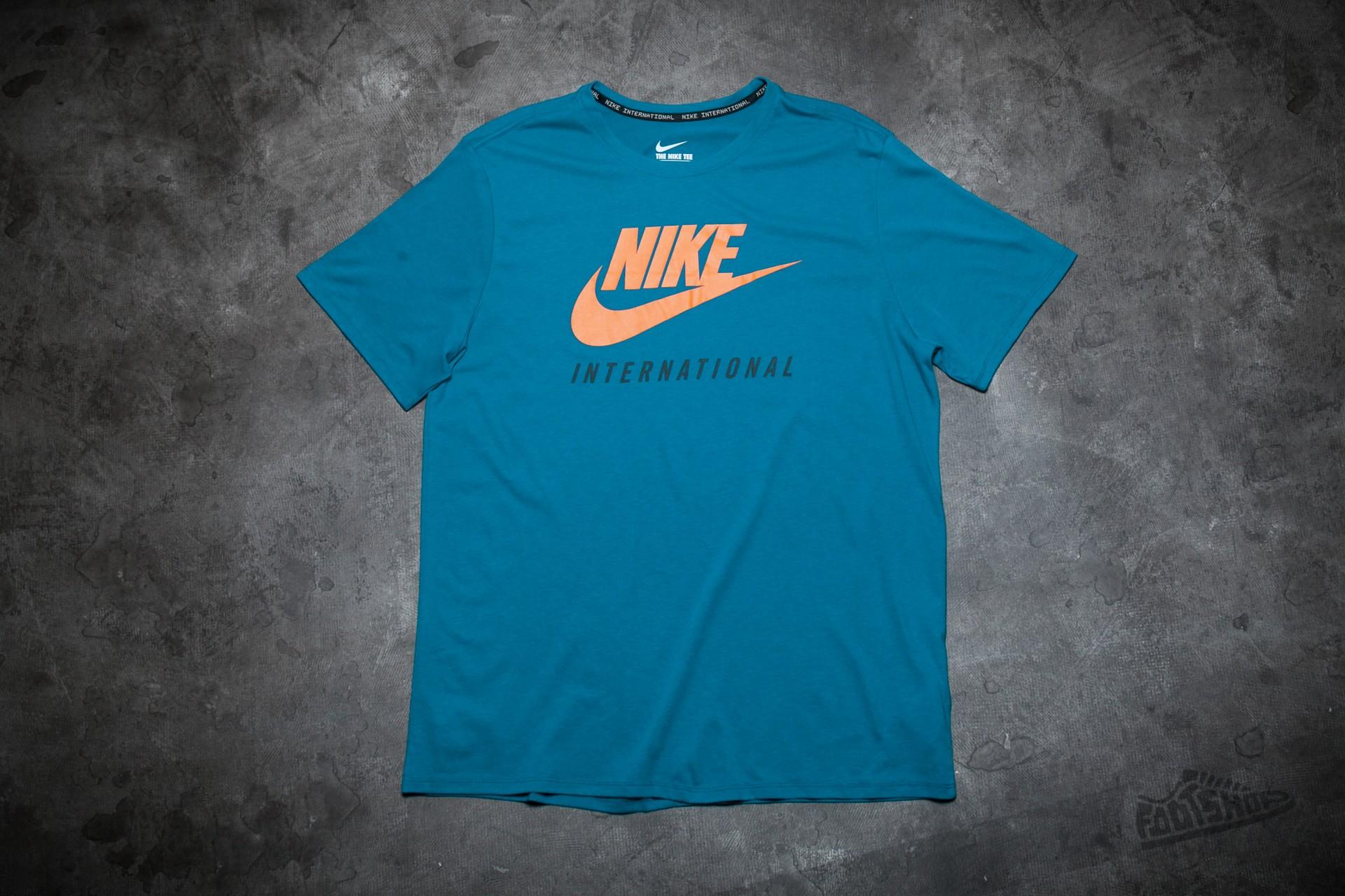 Nike International Tee Green Abyss/ Sunset