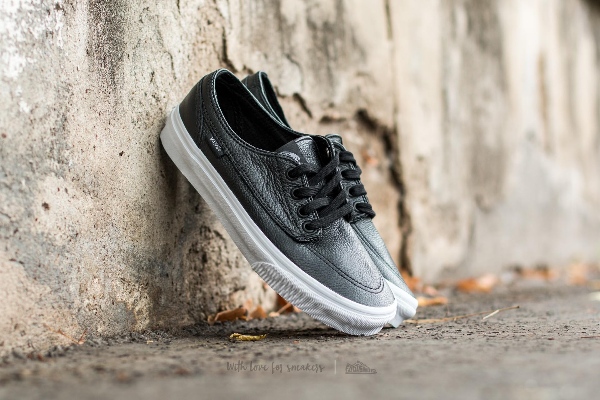 Vans Brigata (Premium Leather) Black/ True White Footshop – FR