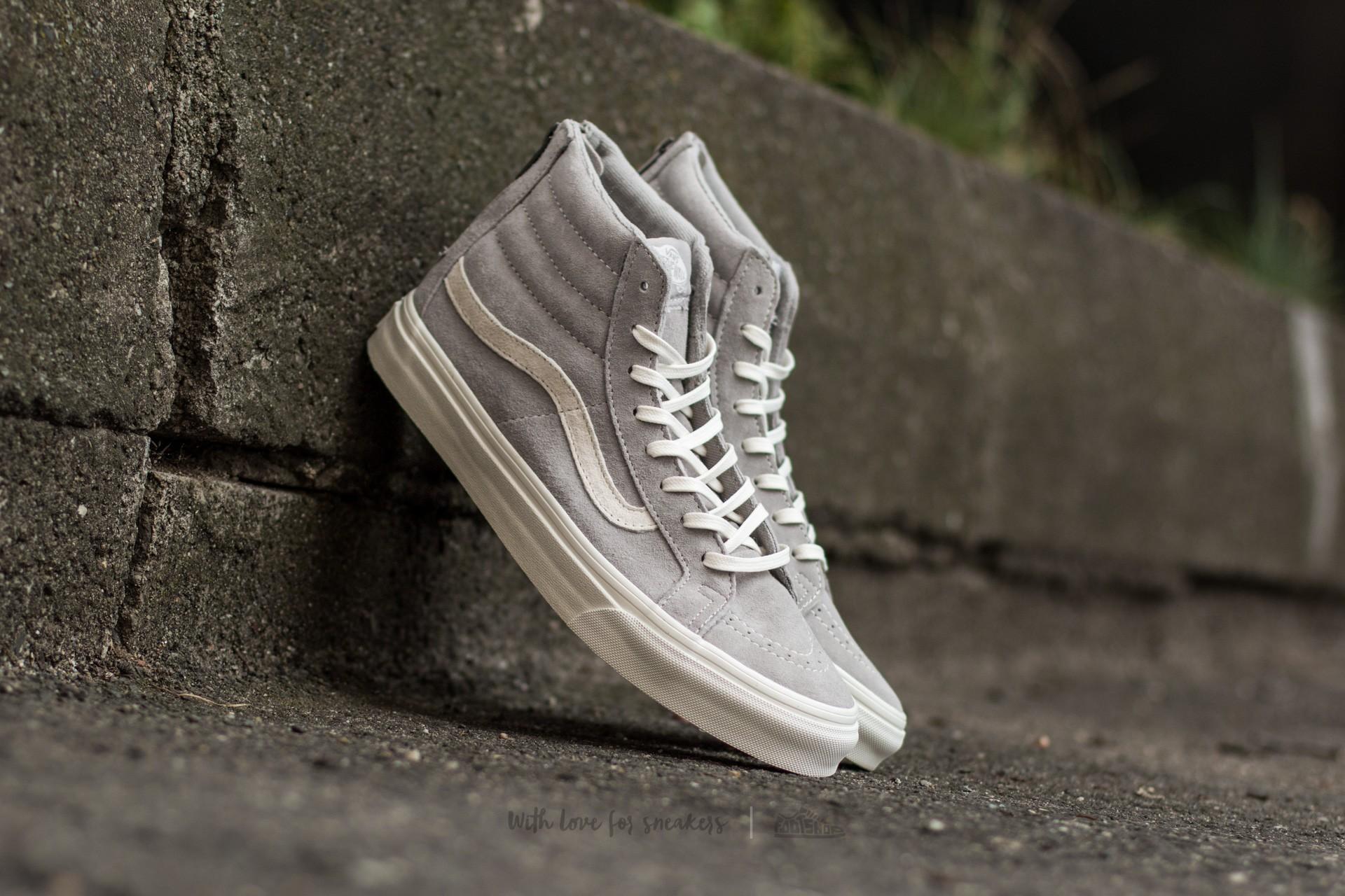 Vans Sk8-Hi Slim Zip (Scotchgard) Cool Grey/ Blanc